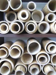 Bamboo tubes